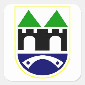 Sarajevo Coat of Arms Square Sticker