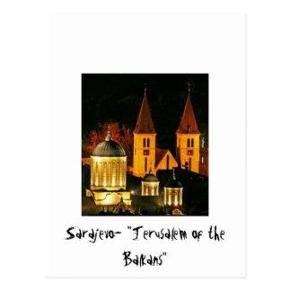 Sarajevo Jerusalem of the Balcans Postcard