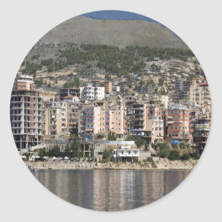 Sarande town in Albania Round Sticker