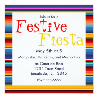 Sarape Cinco de Mayo Invitation