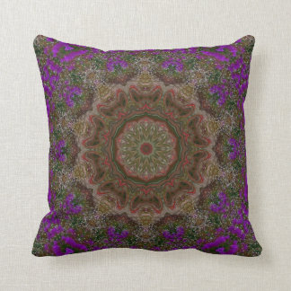 Sara's Flower Garden. Throw Pillow