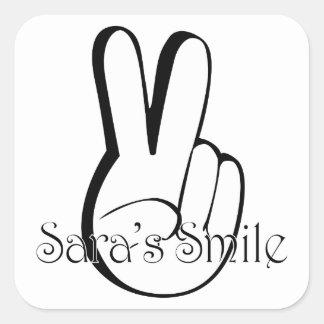 Sara's Smile Suicide Awareness Gear Square Sticker