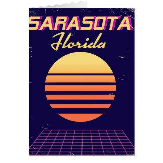 Sarasota Florida 1980s vintage travel print. Card