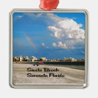 Sarasota Florida Metal Ornament