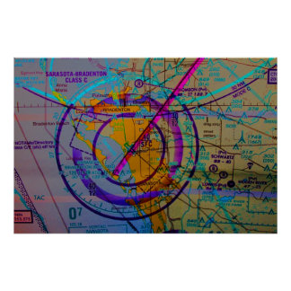 Sarasota International airport Aviation map Poster