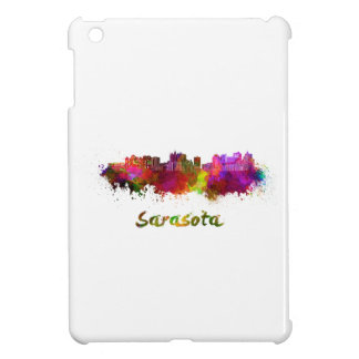 Sarasota skyline in watercolor cover for the iPad mini