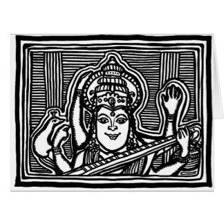 Saraswati big card by AncientAgesPrints