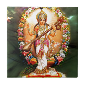Saraswati Floral Tile
