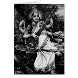 Saraswati-Namaste Card