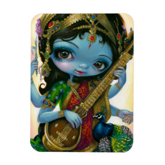 """Saraswati Playing Veena"" Flex Magnet"