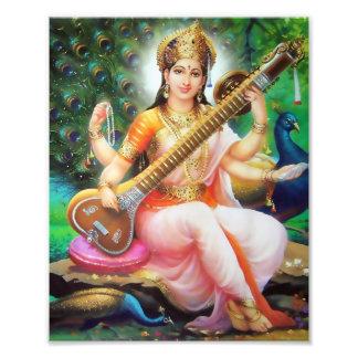 """Saraswati Print (8"""" x 10"""") - Version 1"""