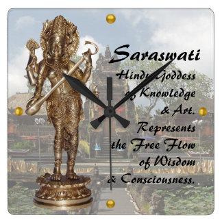 Saraswati Square Wall Clock