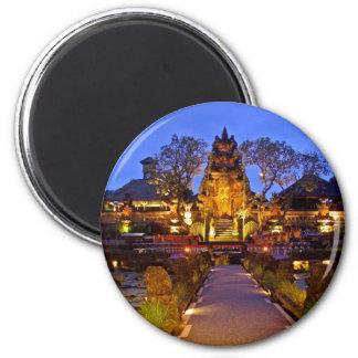Saraswati Temple 2 Inch Round Magnet