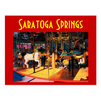 Saratoga Carousel Postcard - Customized