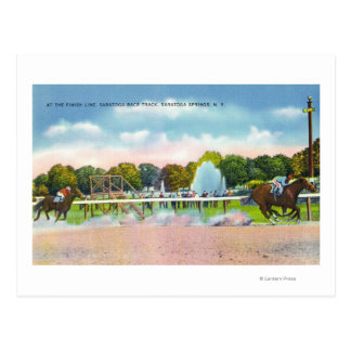 Saratoga Race Track Finish Line View Postcard