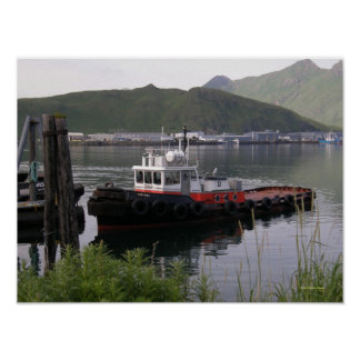 Saratoga Tugboat in Dutch Harbor, Alaska Poster