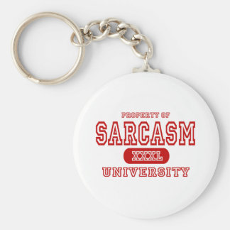 Sarcasm University Basic Round Button Keychain