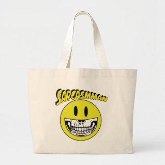 Sarcasmman Large Tote Bag