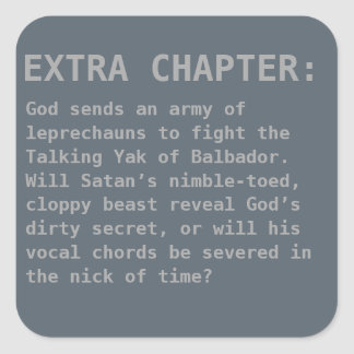 Sarcastic Bible Extra Chapter Square Sticker