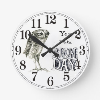 Sarcastic owl clock