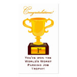 Sarcastic Parking Trophy Business Card