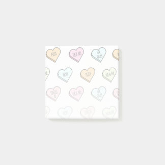 Sarcastic Valentine's Candy Heart Pattern Post-it Notes