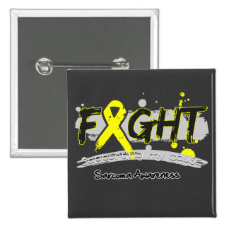 Sarcoma Cancer FIGHT Supporting My Cause 2 Inch Square Button