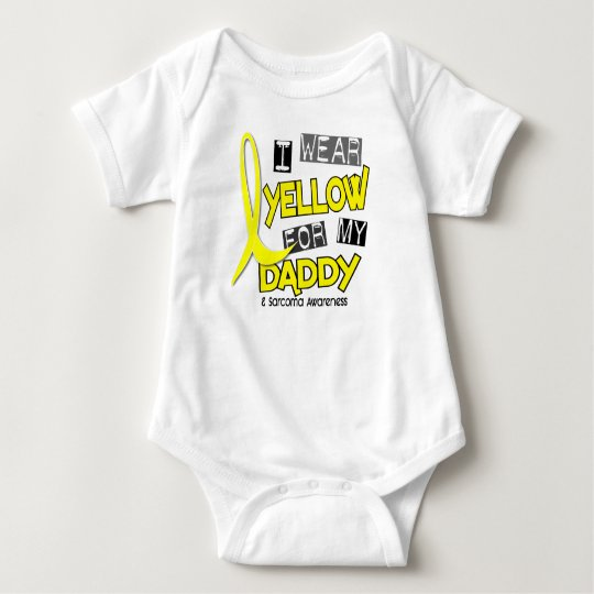 Sarcoma I WEAR YELLOW FOR MY DADDY 37 Baby Bodysuit