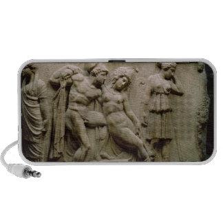 Sarcophage grec avec une scène montrant la bataill mini haut-parleur