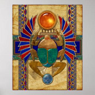 Sarcophagus 3D Egyptian Poster
