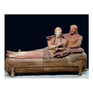 Sarcophagus of a married couple, 525-500 BC Postcard