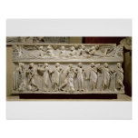 Sarcophagus of the Muses, Roman (marble) Poster
