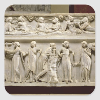 Sarcophagus of the Muses, Roman (marble) Square Sticker