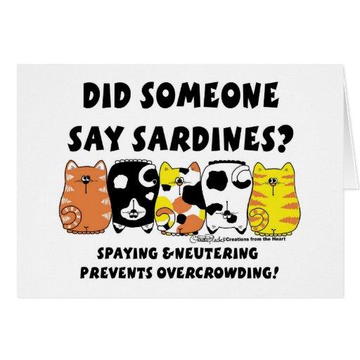 Sardine Cats Greeting Cards