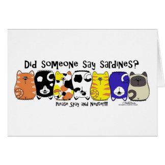 Sardine Cats Greeting Card
