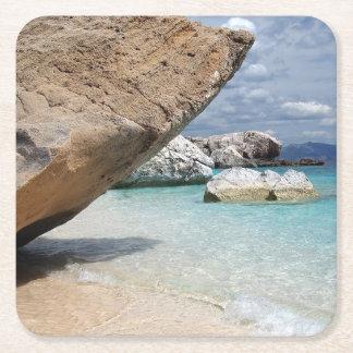 Sardinia beach with big rocks coaster