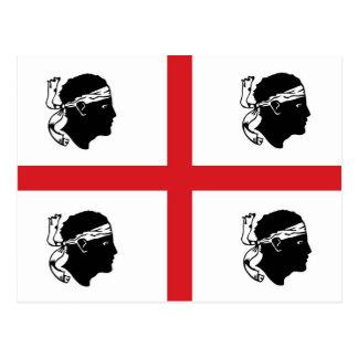 sardinia flag italy region island ethnic postcards