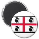 Sardinia Flag Refrigerator Magnet