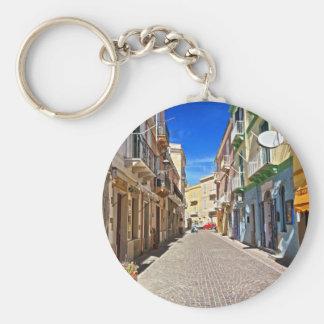 Sardinia - main street in Carloforte Keychain