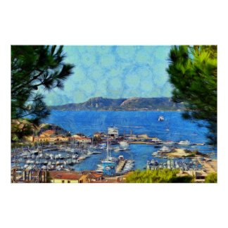 Sardinia. Palau. View of the Bay Poster