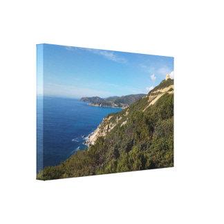 Sardinia panoramic view canvas print