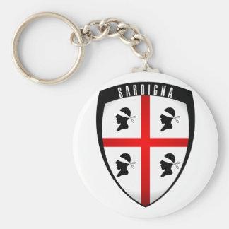 Sardinia, Shield Crest Keychain