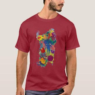 Sardinia, splash paint Map T-Shirt