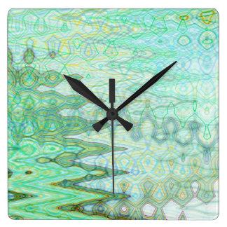 Sardinia Square Clock by Artist C.L. Brown