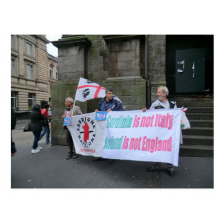 Sardinian Independence Campaigners in Scotland Postcard