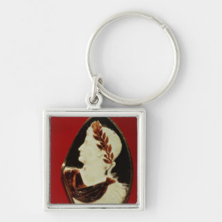 Sardonyx Cameo bearing the profile of Tiberius Keychain