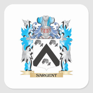 Sargent Coat of Arms - Family Crest Square Stickers