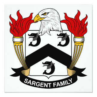 Sargent Family Crest Personalized Announcements