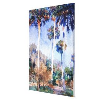 Sargent - Palms, a John Singer Sargent painting Canvas Prints