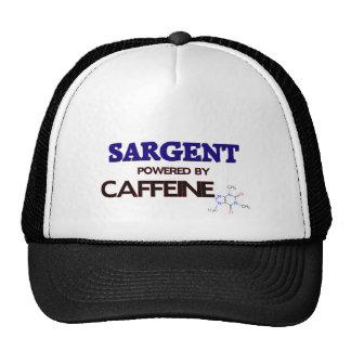 Sargent powered by caffeine trucker hat